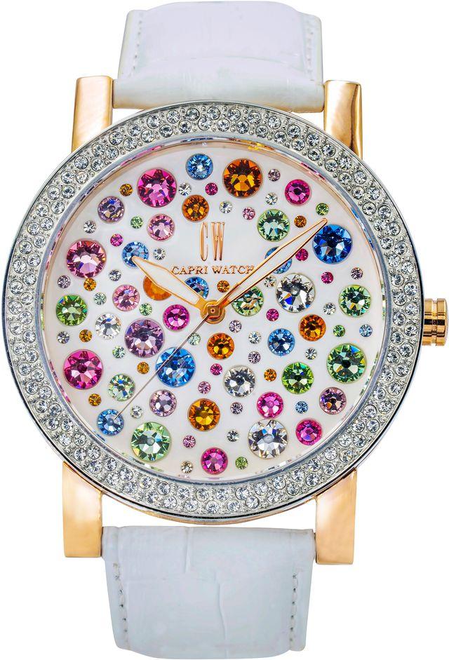 capri watch modello multijoy white