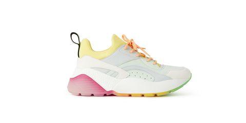 Shoe, Footwear, White, Pink, Outdoor shoe, Walking shoe, Product, Yellow, Sneakers, Orange,