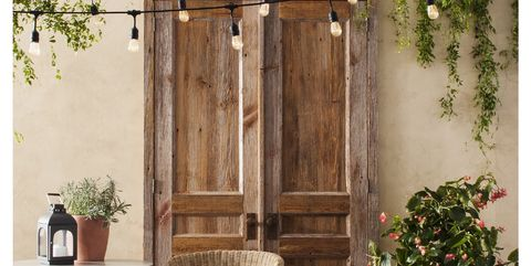 Furniture, Curtain, Room, Table, Chair, Interior design, Textile, Plant, Rectangle, Door,
