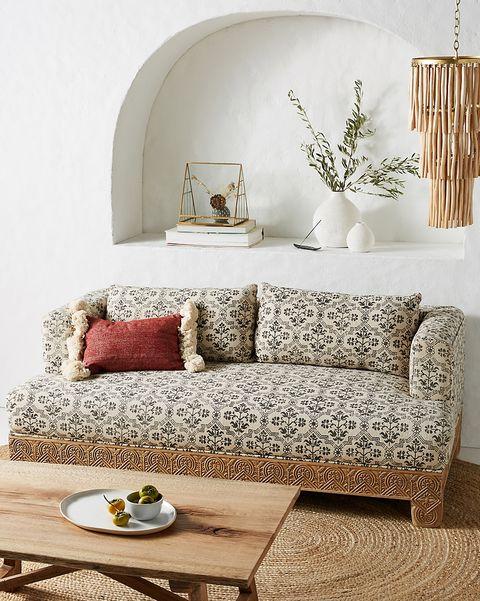 anthropologie living room sofa