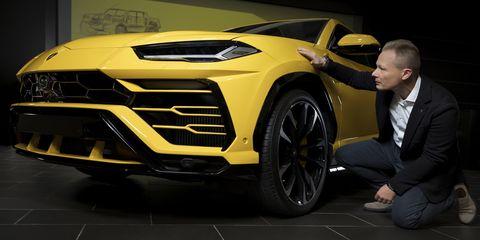 Land vehicle, Vehicle, Car, Automotive design, Rim, Yellow, Supercar, Wheel, Alloy wheel, Auto show,