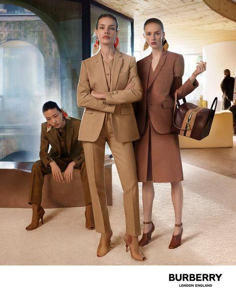Suit, Fashion, Beige, Footwear, Formal wear, White-collar worker, Outerwear, Coat, Fashion model, Fashion design,