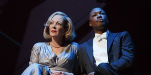 Allison Janney and Corey Hawkins in Six Degrees of Separation on Broadway