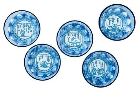 藍色的5個杯子