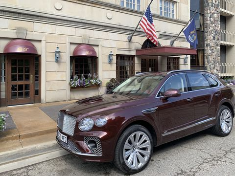 the 2021 bentley bentayga is updated inside and out but retains its original platform and powertrain