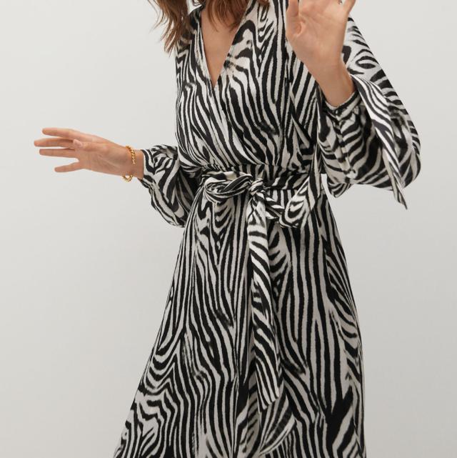 mango outlet vestido de cebra