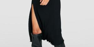 stradivarius vestido negro elegante