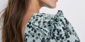 Zara vestido floral largo