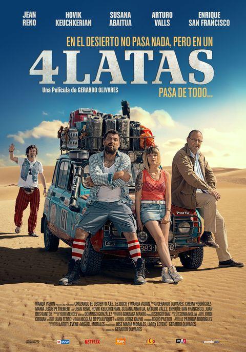 4 Latas Cartel En Primicia De La Buddy Movie De Jean Reno
