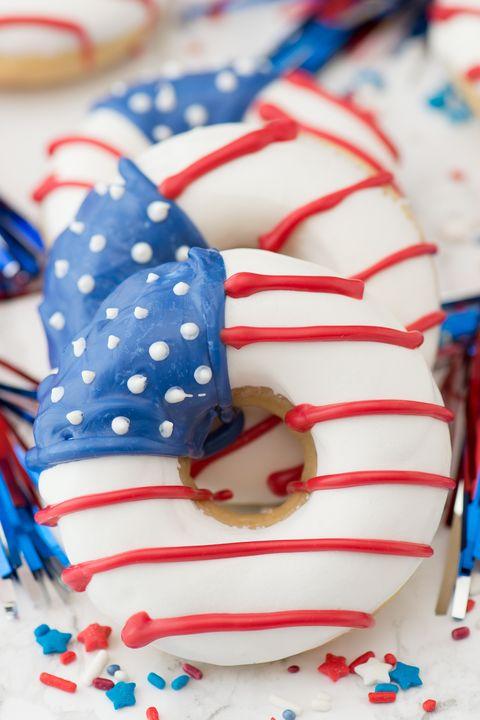 american flag doughnuts