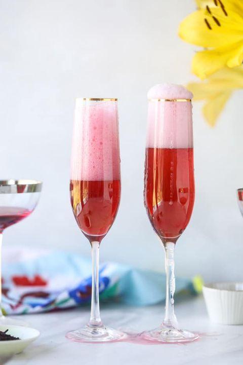 rosé hibiscus mimosa