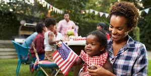4th of July activities with mom and baby