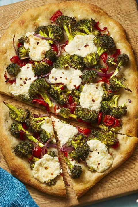 4th of july appetizers roasted broccoli and lemony ricotta flatbread