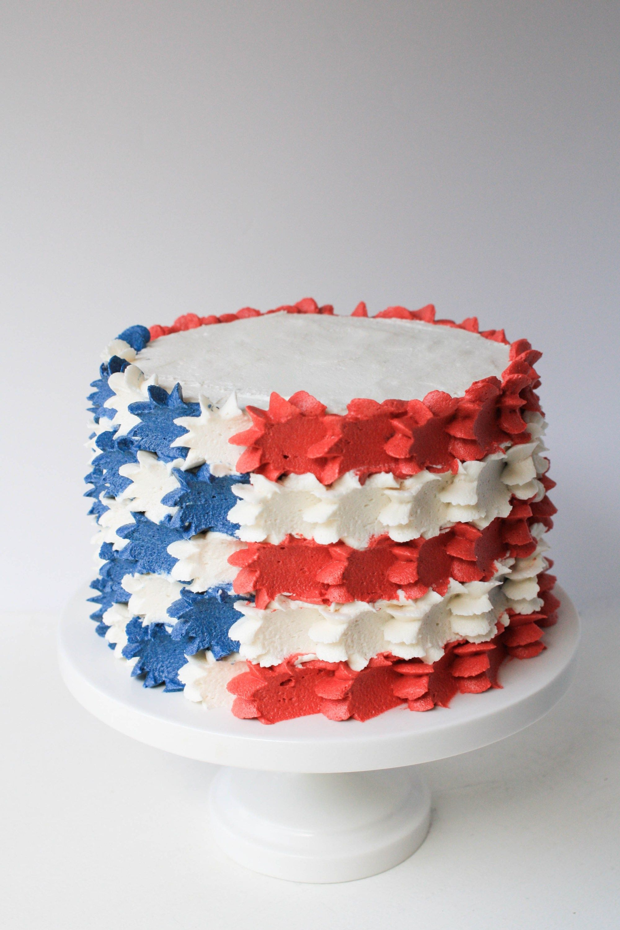 4th of july cake flag