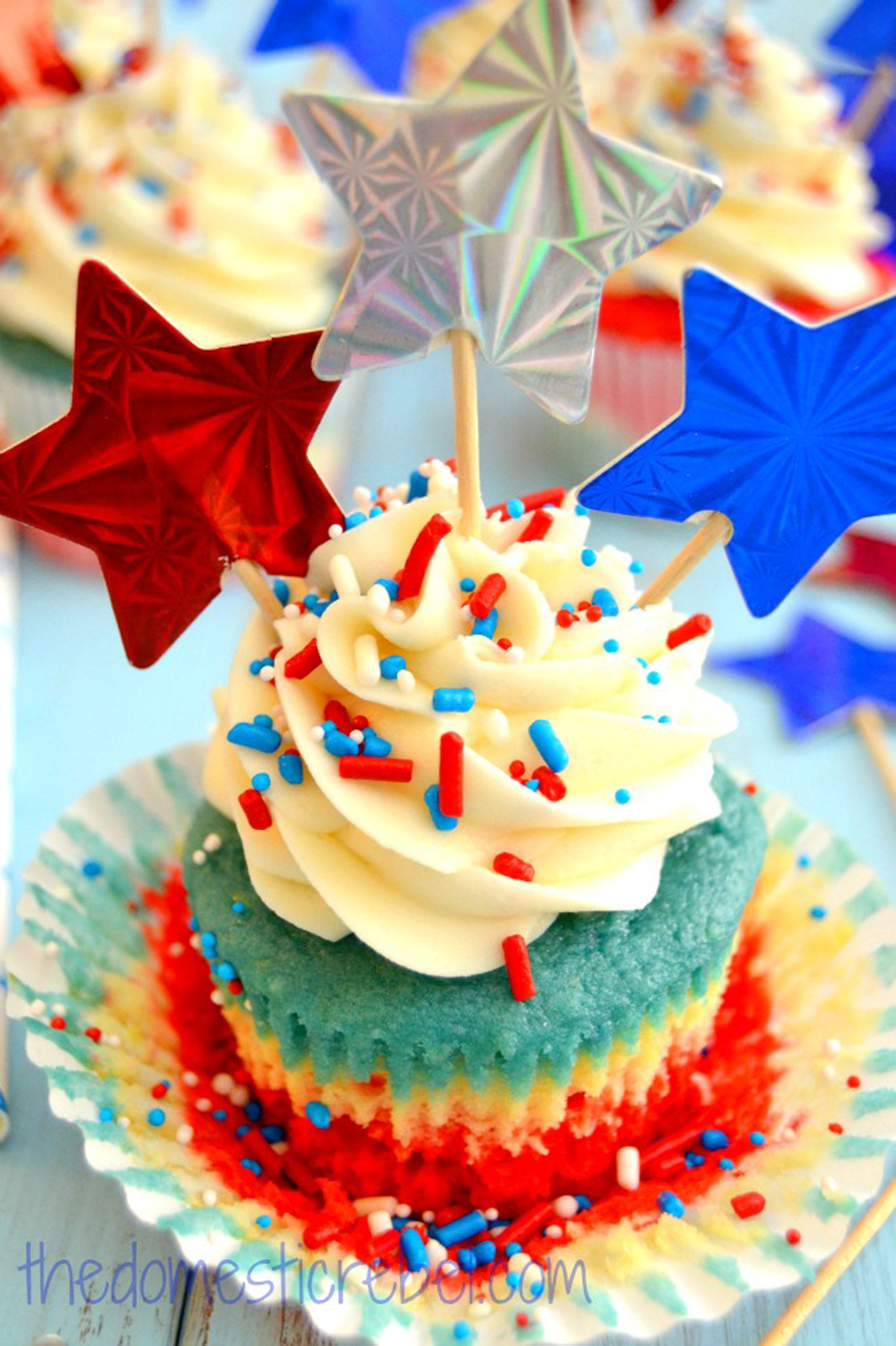 23 Easy 4th of July Cupcake & Cakes — Recipes for Fourth of July ...