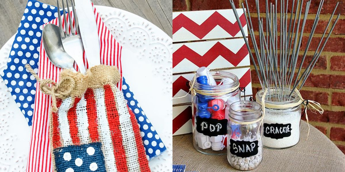 36 Red, White, and Blue 4th of July Crafts to Get in the Holiday Spirit
