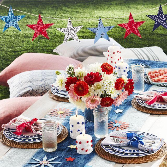 4th of july crafts star garland