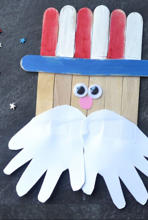 4th of july crafts uncle sam popsicle stick craft