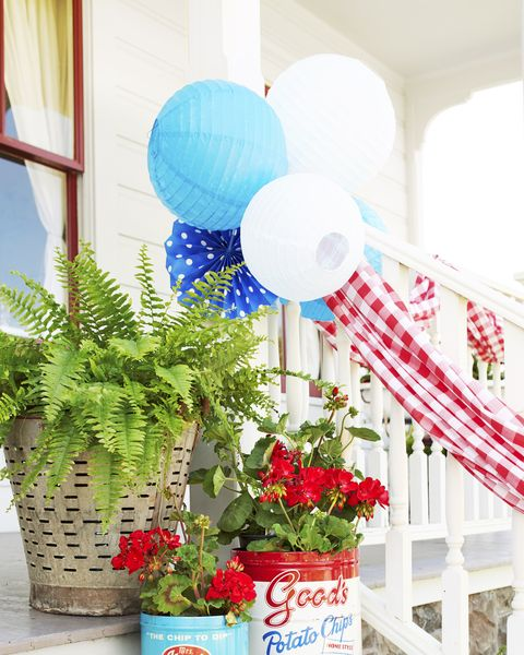 4th of july decorations planters