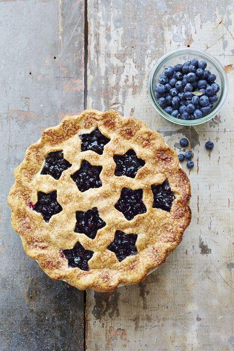4th of July Desserts - Cutaway Blueberry Pie