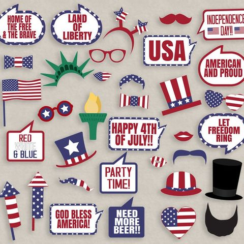 4th of july party ideas - photo props