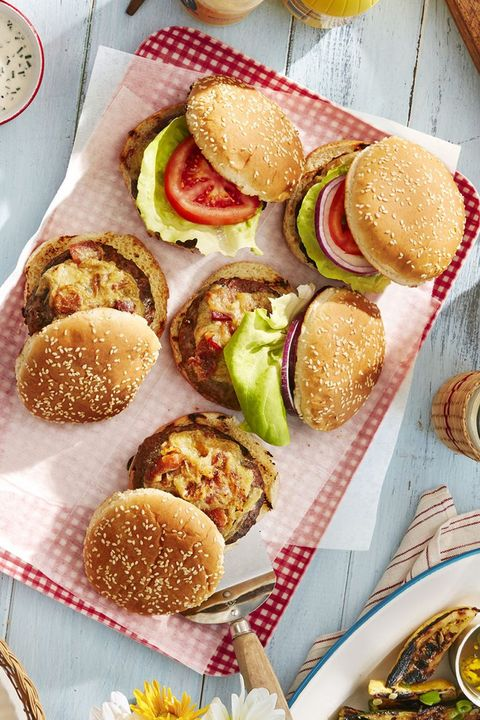 4th of july recipes worcestershire glazed burgers