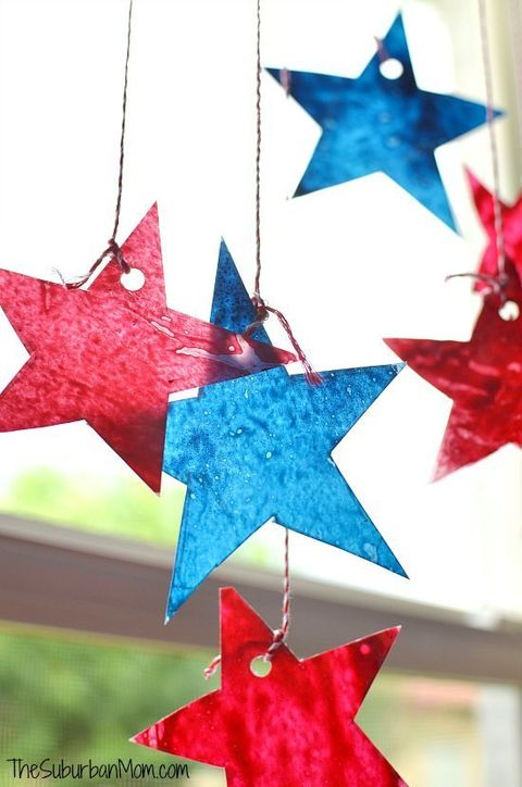 4th of july sun catchers craft