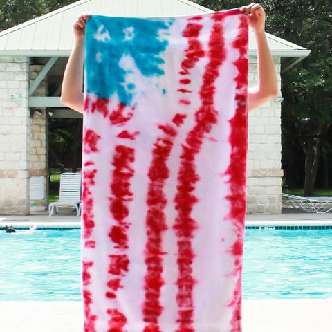4th of july crafts - Patriotic Tie Dye Towel