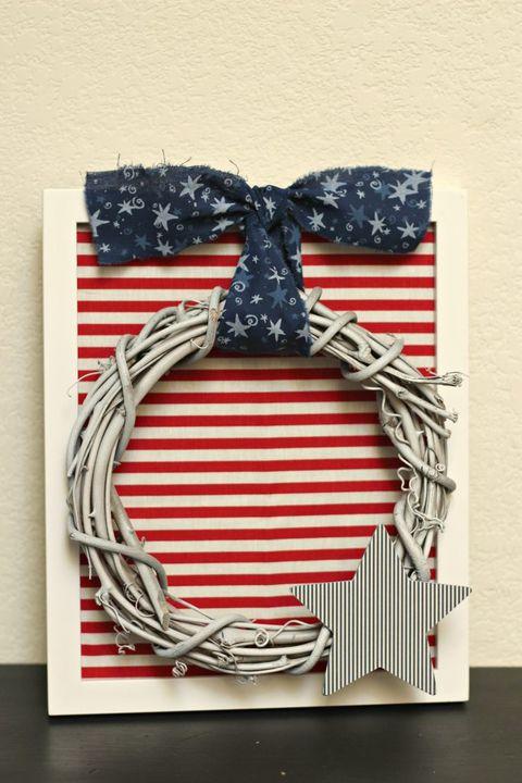 4th of july wreath framed patriotic wreath