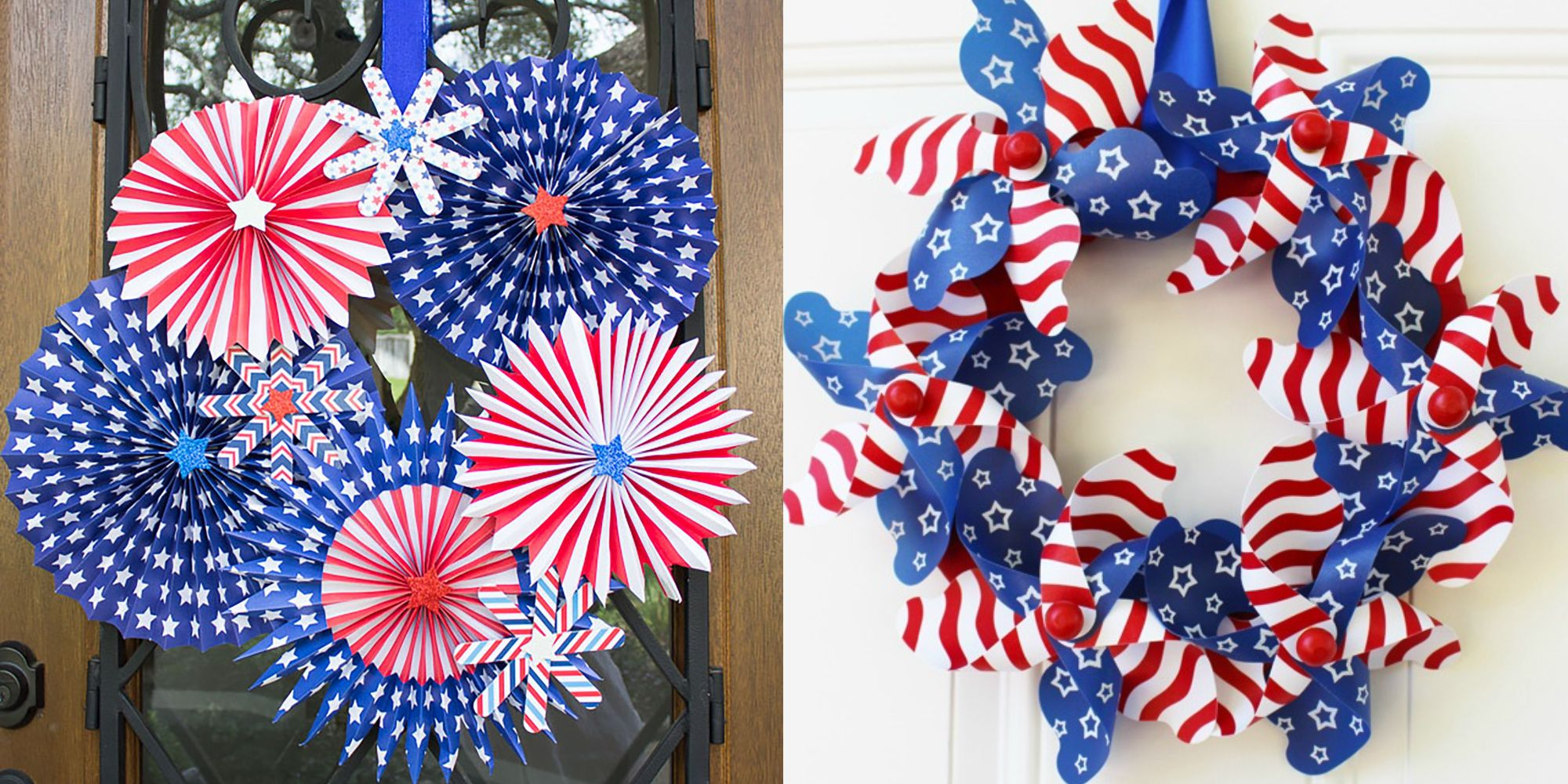 7194e79b4642 15 DIY 4th of July Wreaths - How to Make a Patriotic Wreath