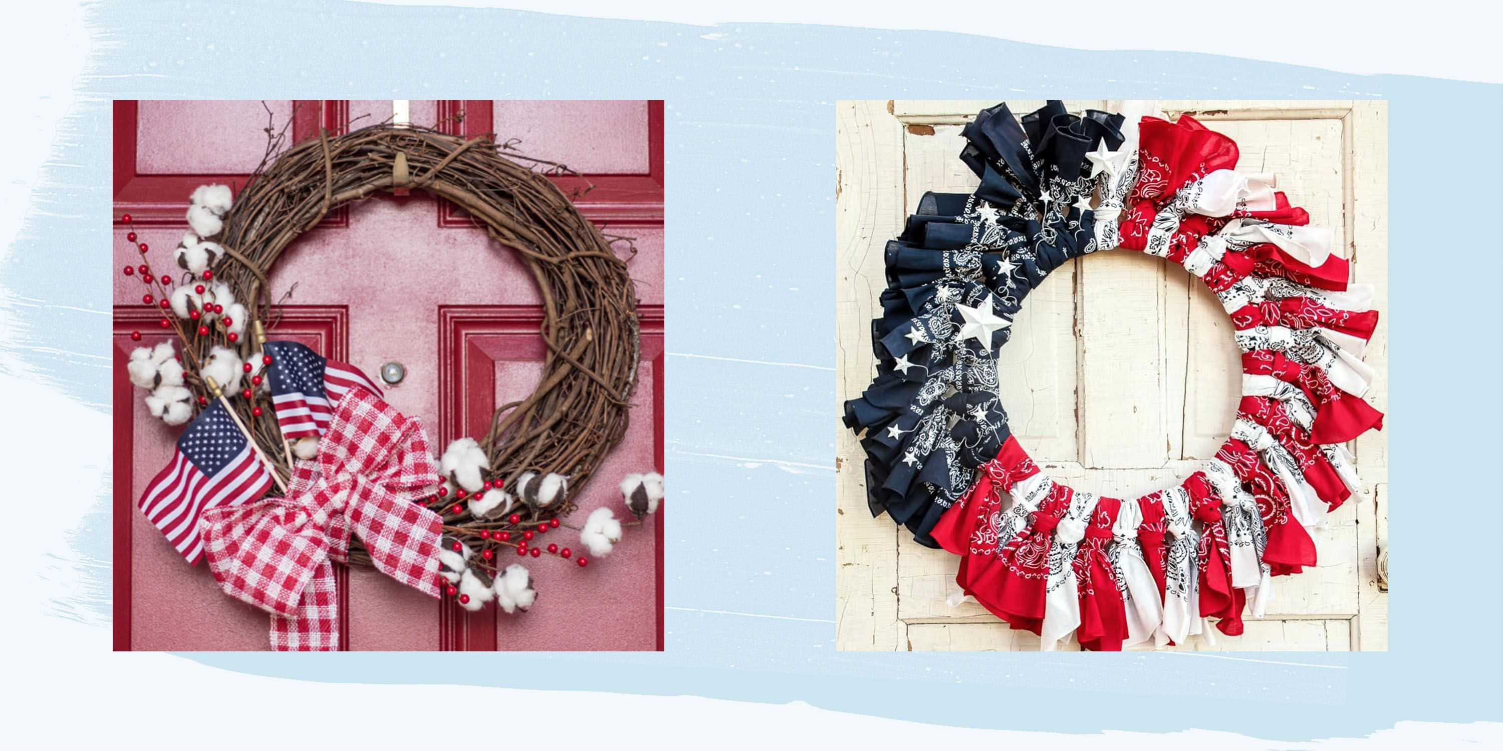 22 Best 4th Of July Wreaths How To Make A Fourth Of July Wreath