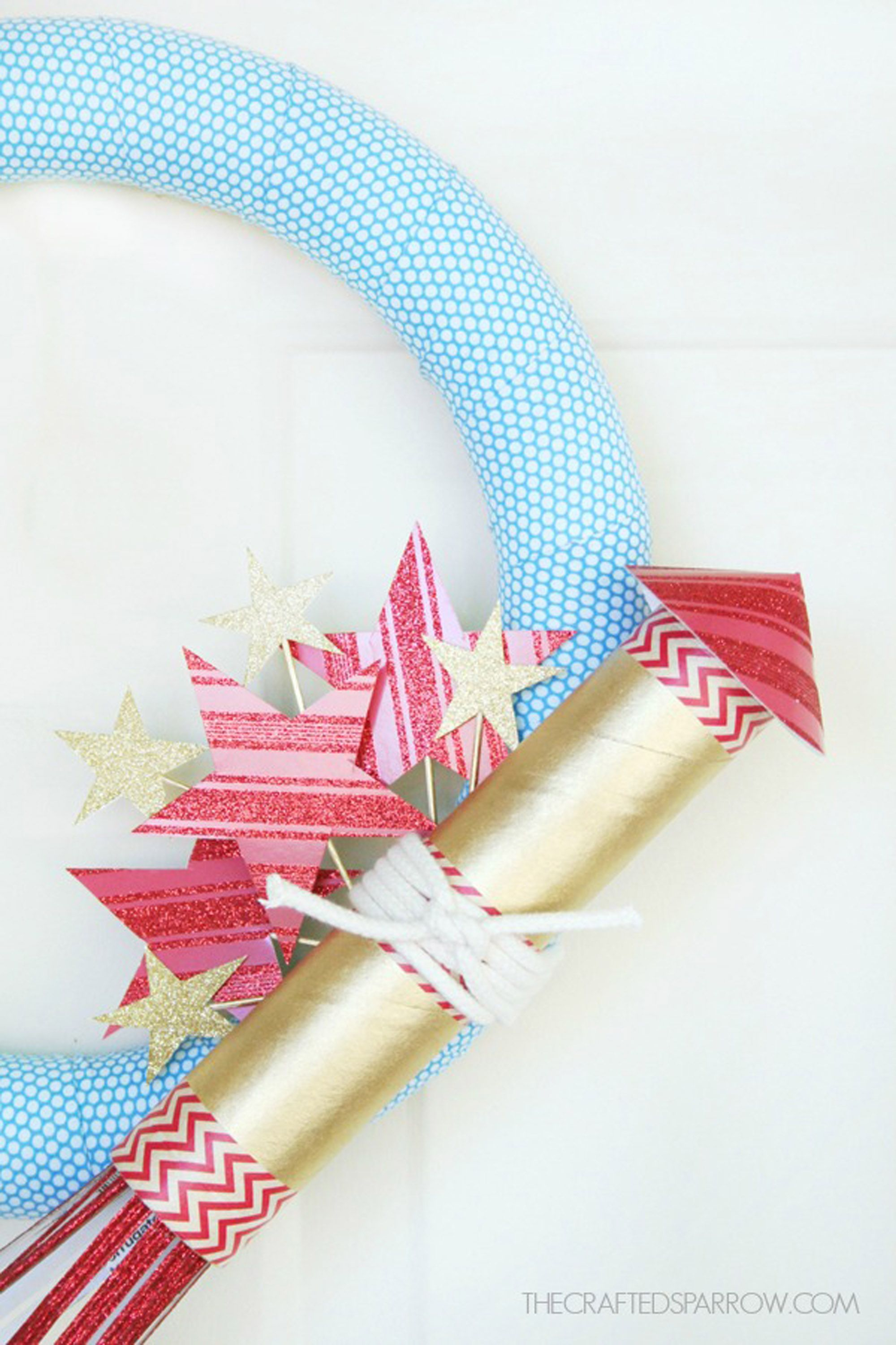 4th of july wreaths firecracker