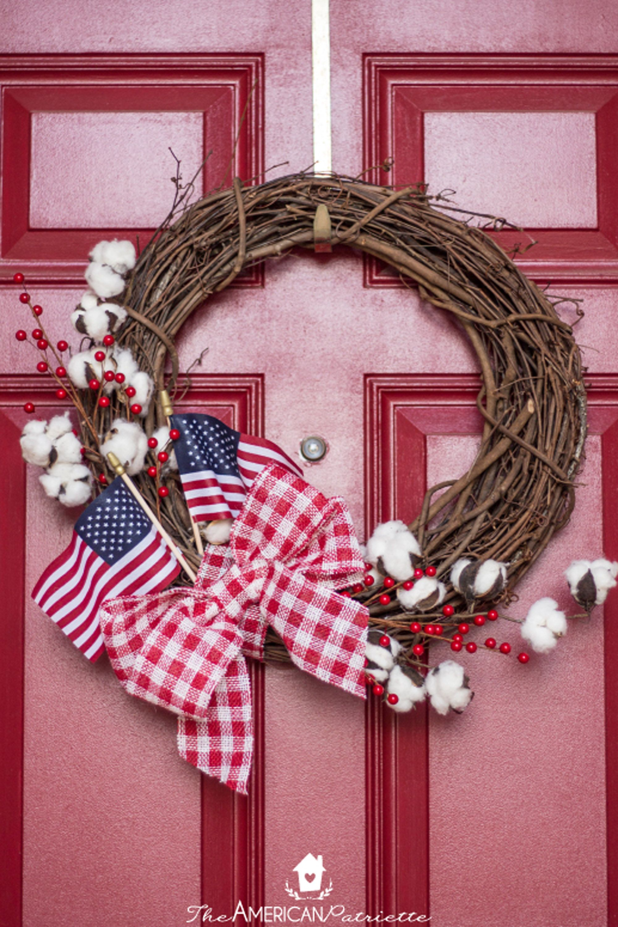 4th of july wreaths flag