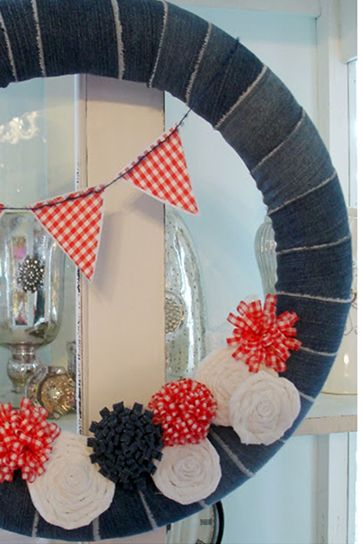 4th of july wreaths pool noodle wreath