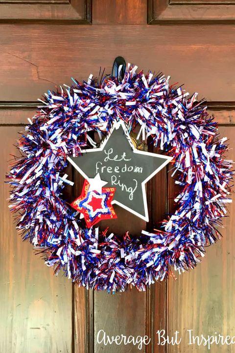 4th of july wreaths tinsel wreath