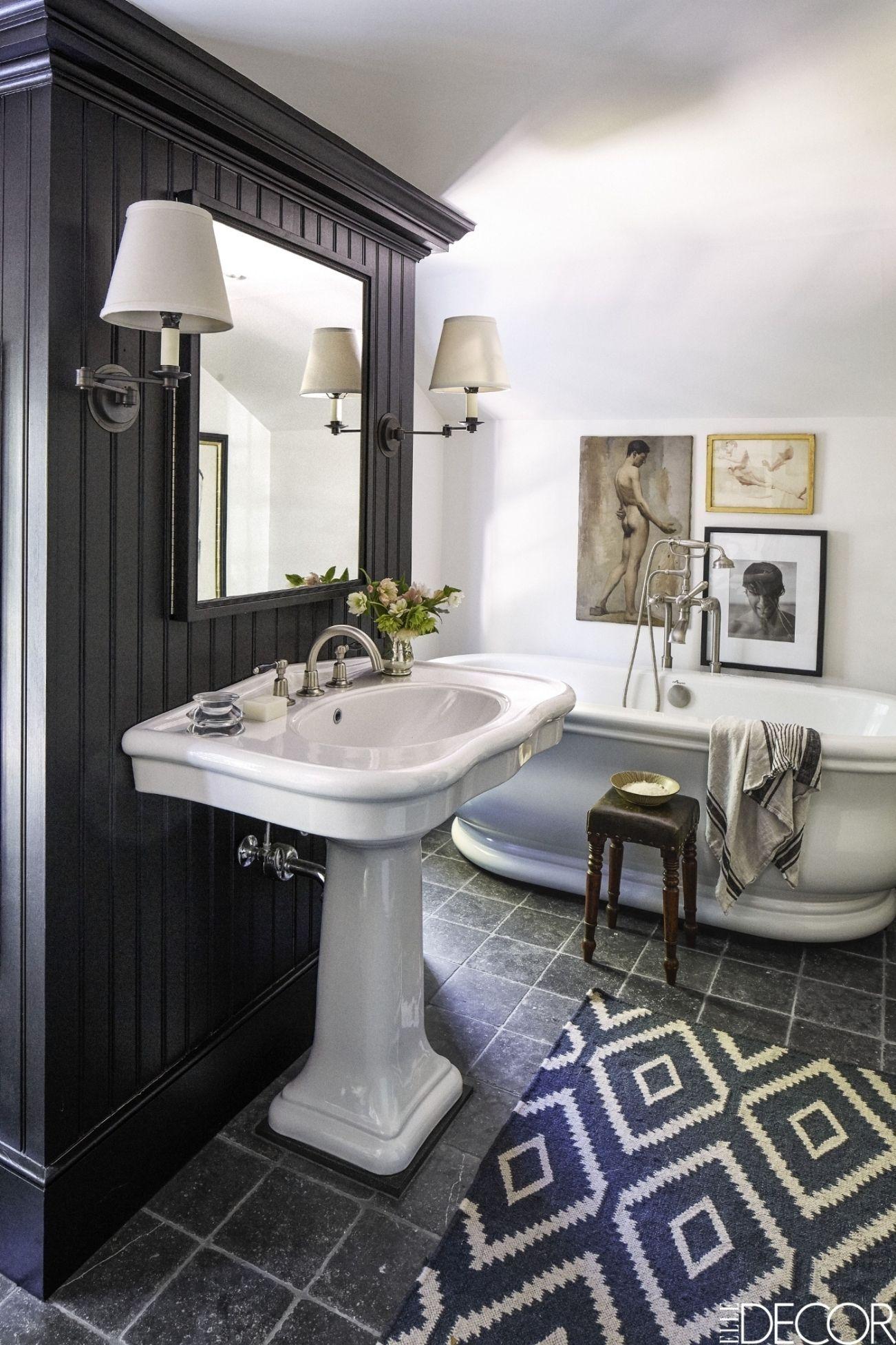 Black White Bathroom Design And Tile, Black And Silver Bathroom