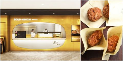 東京,銀座,排隊美食,GOLD MENCHI,名氣餅,微風南山,炸肉餅,牛肉餅