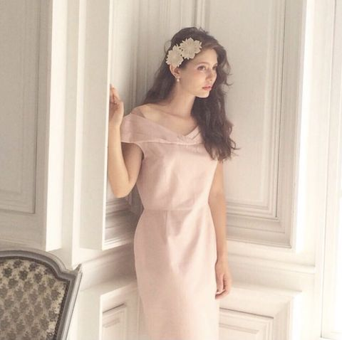 Clothing, Dress, White, Shoulder, Beauty, Gown, Neck, A-line, Fashion, Bridal party dress,