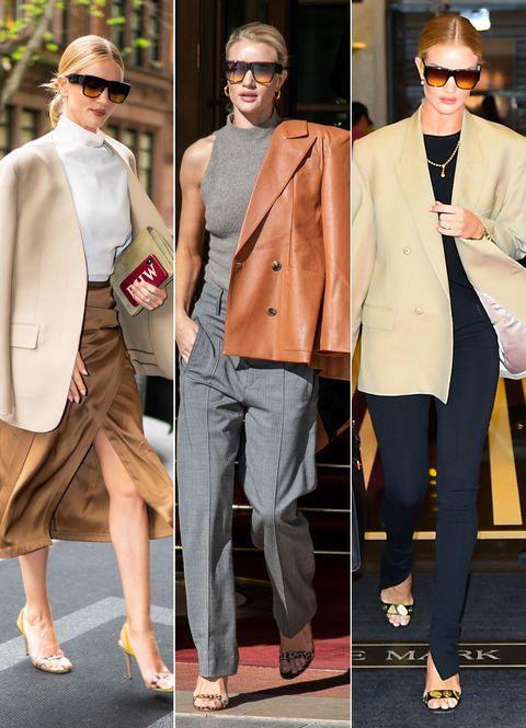 Clothing, Street fashion, Fashion, Suit, Blazer, Outerwear, Footwear, Pink, Coat, Formal wear,