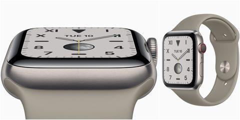 Apple Watch Series 5 備有採用全新材質打造的鈦金屬錶殼