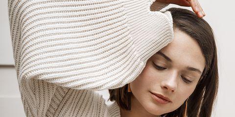 White, Clothing, Beanie, Skin, Beauty, Cap, Knit cap, Hat, Headgear, Lip,