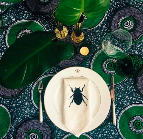 Green, Leaf, Table, Plate, Insect, Plant, Illustration,
