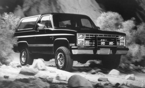 Land vehicle, Vehicle, Car, Motor vehicle, Sport utility vehicle, Chevrolet k5 blazer, Compact sport utility vehicle, Ford bronco ii, Chevrolet, Bumper,