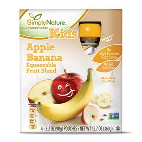 ALDI SimplyNature Apple Banana Fruit Squeezies