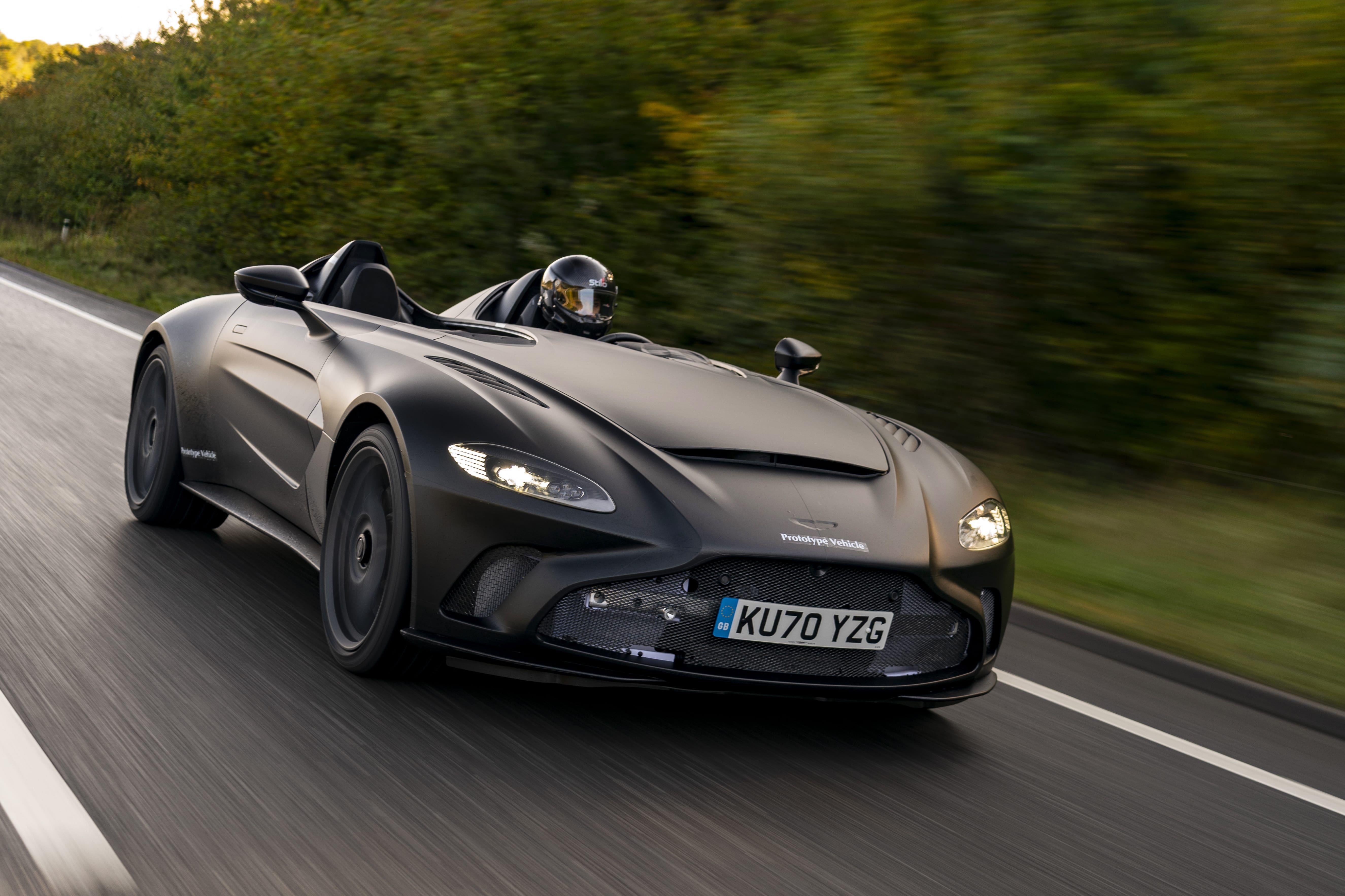 New Photos Show Aston Martin V12 Speedster Haulin British Buns