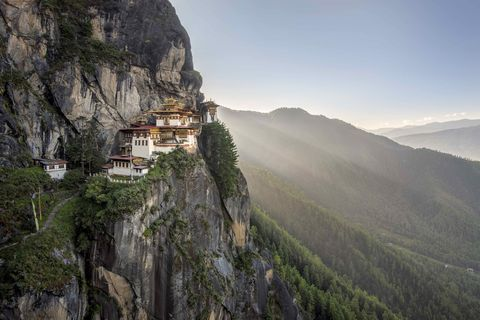 View of Tiger's Nest in morning
