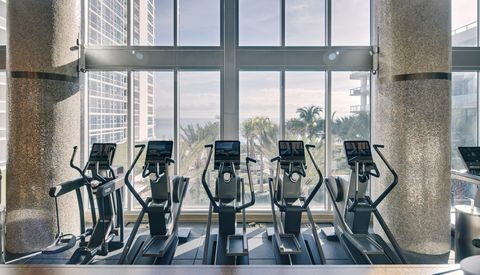 Treadmill, Exercise machine, Room, Exercise equipment, Window, Architecture, Gym, Interior design, Building, Elliptical trainer,