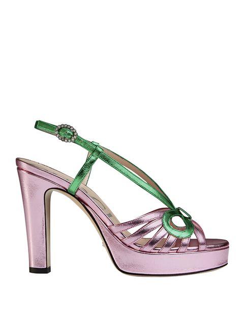 Footwear, Sandal, High heels, Slingback, Green, Shoe, Bridal shoe, Basic pump,