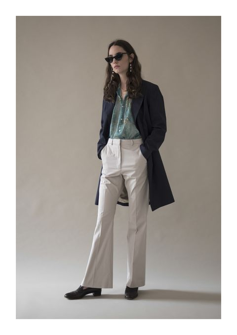 Clothing, Fashion, Blazer, Jacket, Jeans, Outerwear, Beige, Khaki, Trousers, Coat,