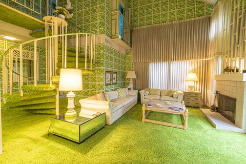 Green, Room, Interior design, Property, Furniture, Yellow, House, Building, Architecture, Home,